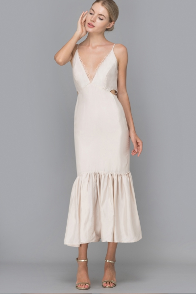 IVORY MERMAID MIDI DRESS