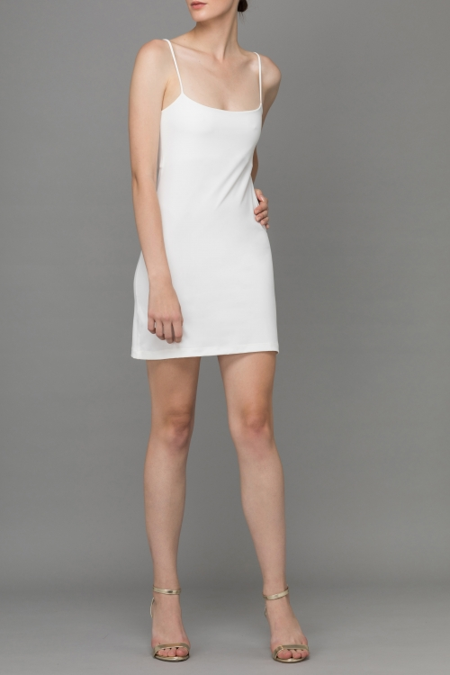 WHITE SIMPLIFY MINI UNDER DRESS