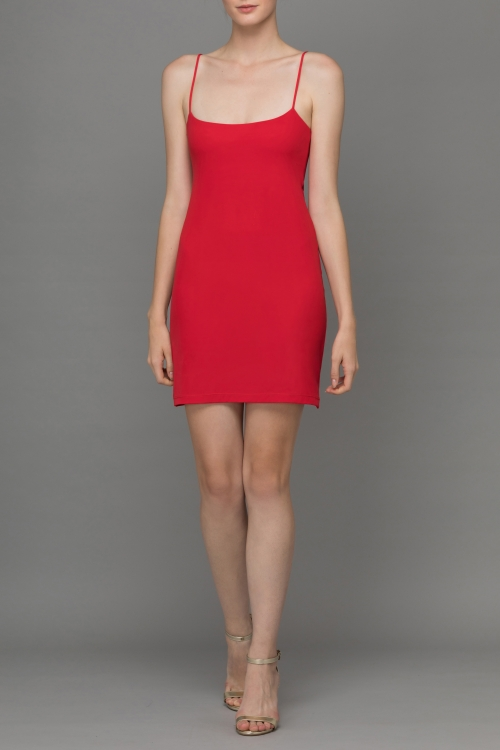 RED SIMPLIFY MINI UNDER DRESS