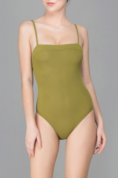 GREEN TEA CAMI SWIMSUIT