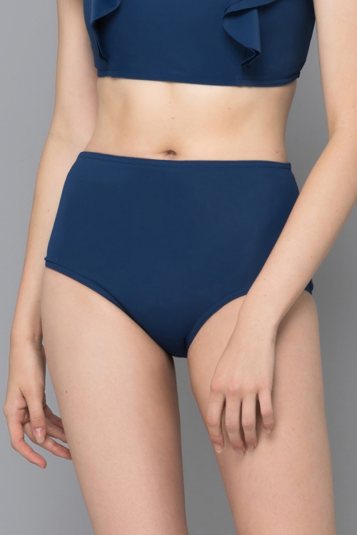 DARK BLUE HIGHT WAIST BIKINI PANT